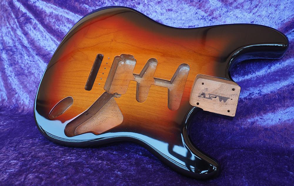 stratocaster fender all parts wood apw guitars stratocaster sunburst