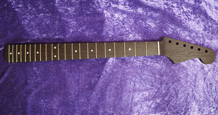 stratocaster fender All Parts Wood apw guitars neck stratocaster wengè