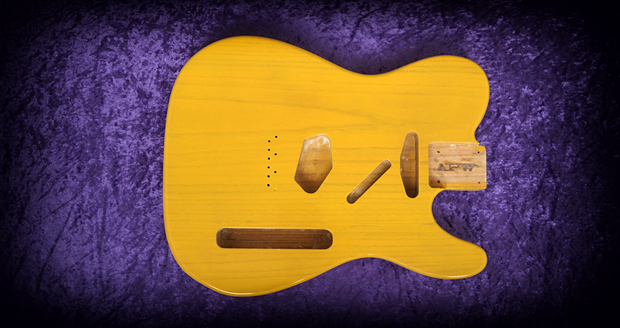 Telecaster butterscotch blonde fender all parts wood apw guitars telecaster