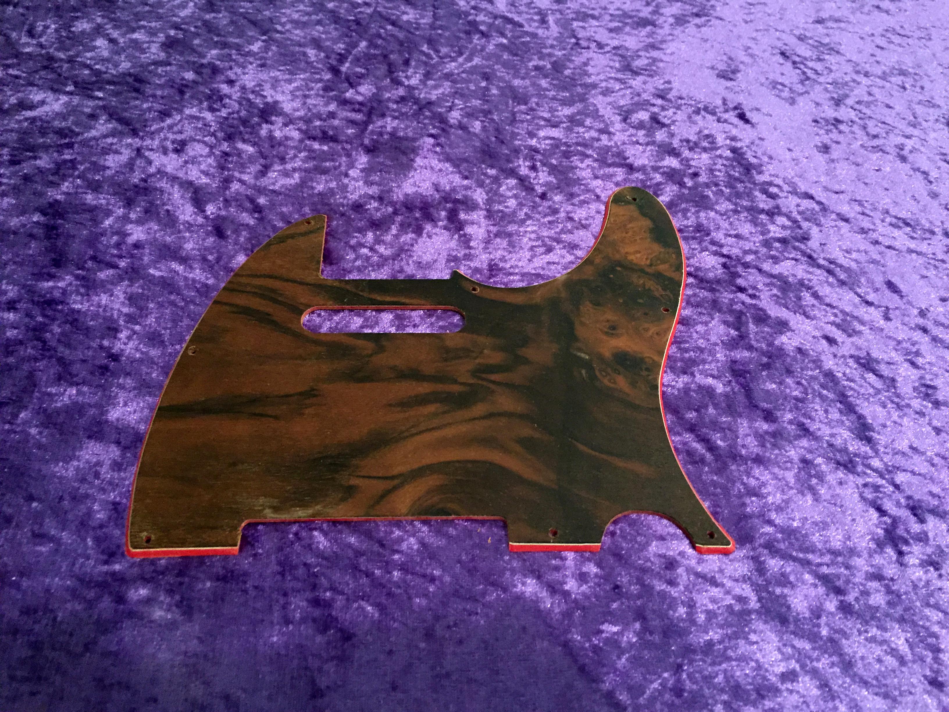 fender all parts wood apw guitars telecaster pickguard