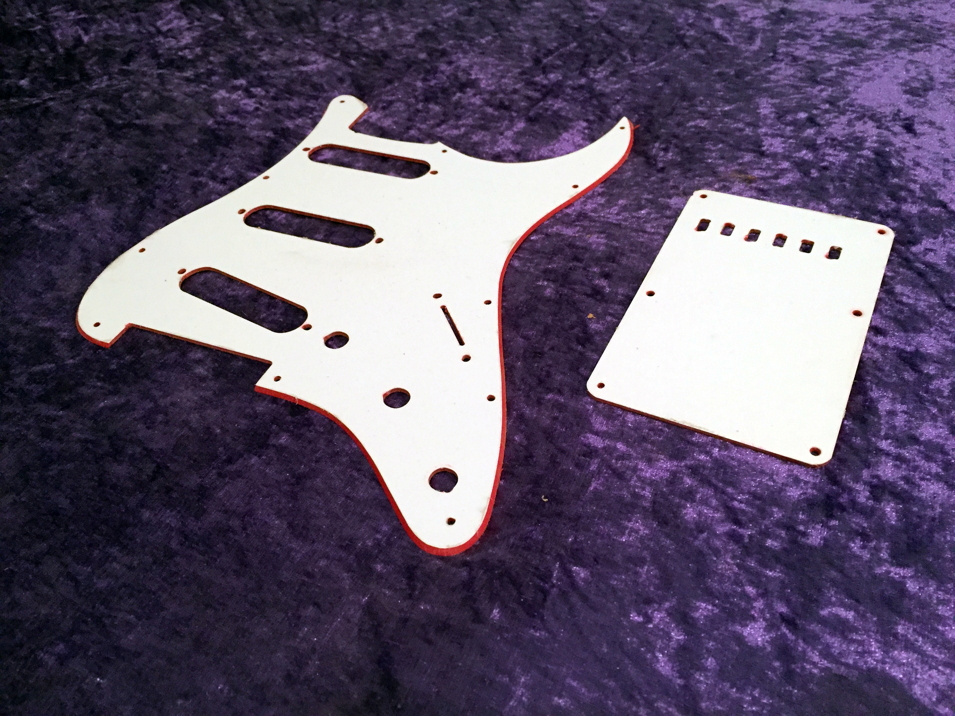 fender all parts wood apw guitars telecaster pickguard stratocaster