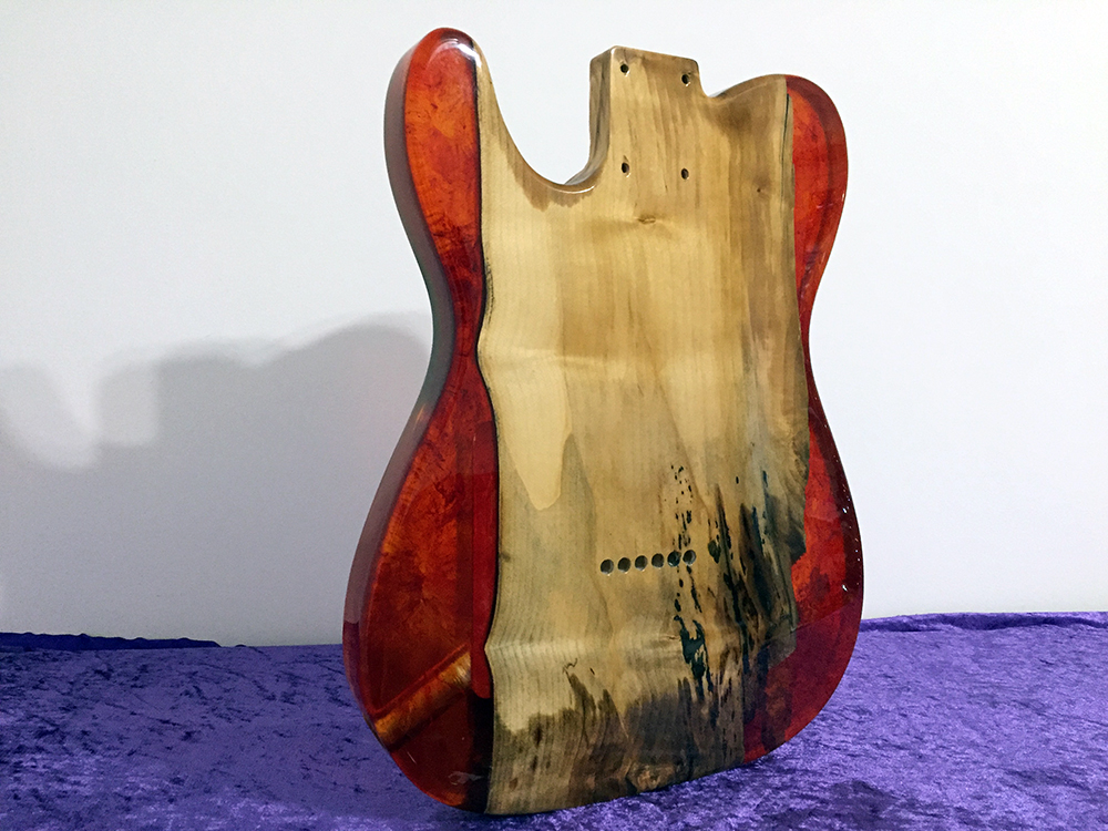 telecaster resin epox all parts wood apwguitars fender body guitar